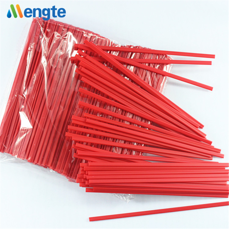 Creative design high quality red rectangular coffee stirrer