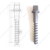 Concrete Ss 8-150 Sleeper Screw Spike For Railway Fasteners
