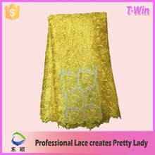 African chemical lace plain cord swiss lace evening dress fabric/guipure design embroidery lace for garment