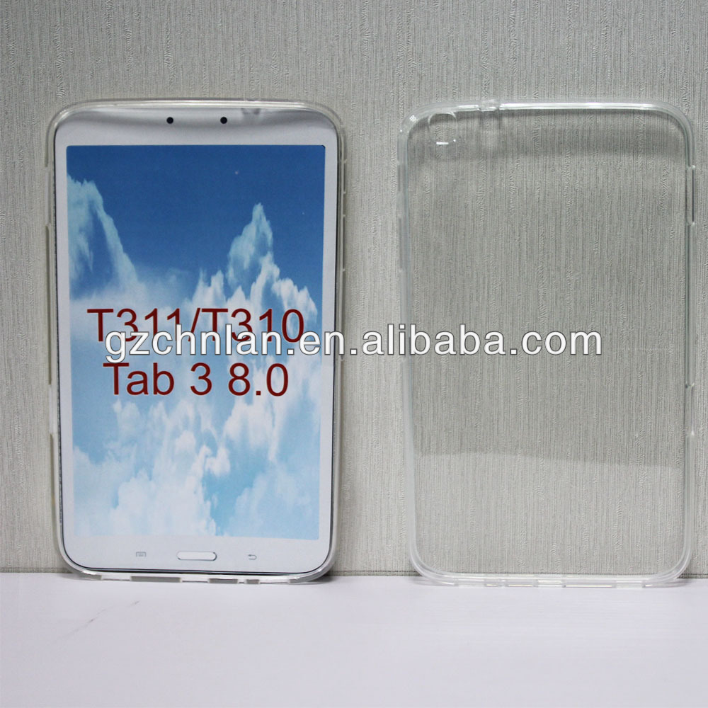 Hot selling clear gel skin cover for Samsung T311 T310 Galaxy Tab 3 8.0 cases