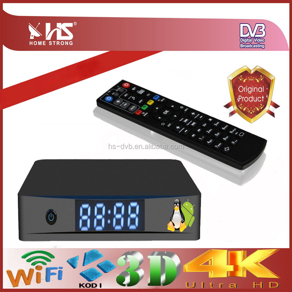 Android tv box 4k satellite receiver