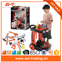 Fast delivery plastic cheap mini toy tool for kids 44PCS tool toy with CE certificate
