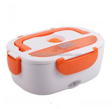 Plastic heated food design Stainless steel electric lunch box/bento lunch box / food storage container