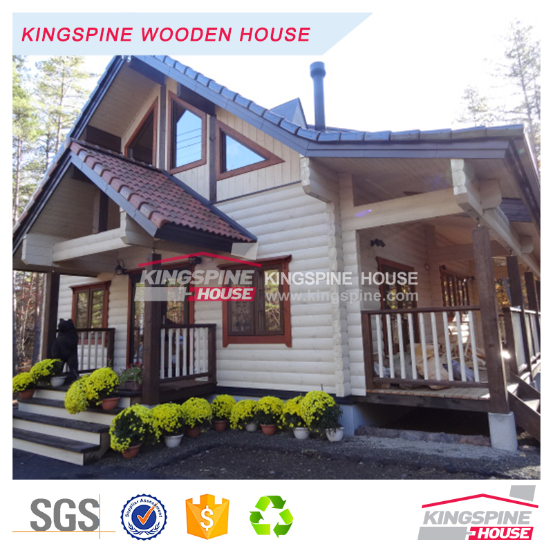 Two-floor Wooden Office building prefab Log House 170.53 m2 KPL-057