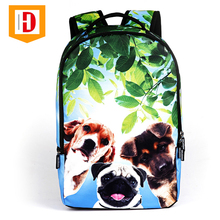 Hot Selling 2018 Multi-colors Adorable Animals Printed Polyester Teens Backpack School Trolley Bags
