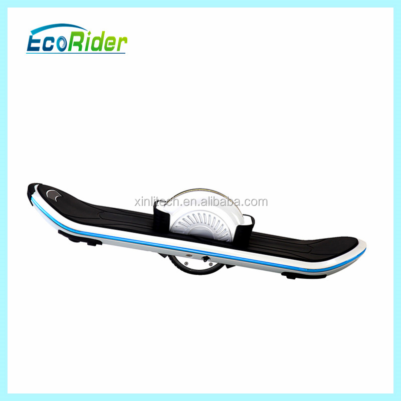 Ecorider One Wheel Hover Board Electric Skateboard With LED Light and Bluetooth