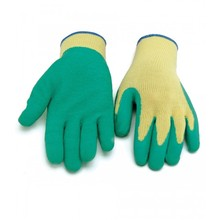 MHR bleach cotton lined green rubber coated safety gloves work for Saudi Arabia importer etc.