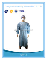 Hot sale disposable nonwoven fabric surgical gown isolation gown for patient doctor