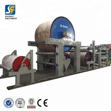 1ton/day waste paper mill for tissue paper making machine