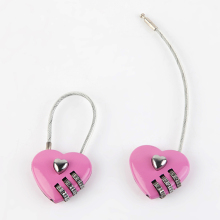 INTERWELL BR36 Promotional Gift Item, Safe Small Heart Shaped Combination Lock