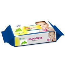 minty extract wet wipes, fresh cleaning baby wipes, single pack flushable organic wet wipes