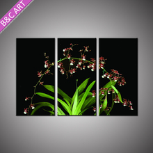 Home Goods Wall Art Latest Abstract Textured Flower Wall Design Painting with Stretcher