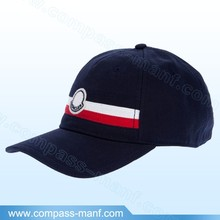 hot selling New Solid Blue strap ecoration adjustable baseball caps