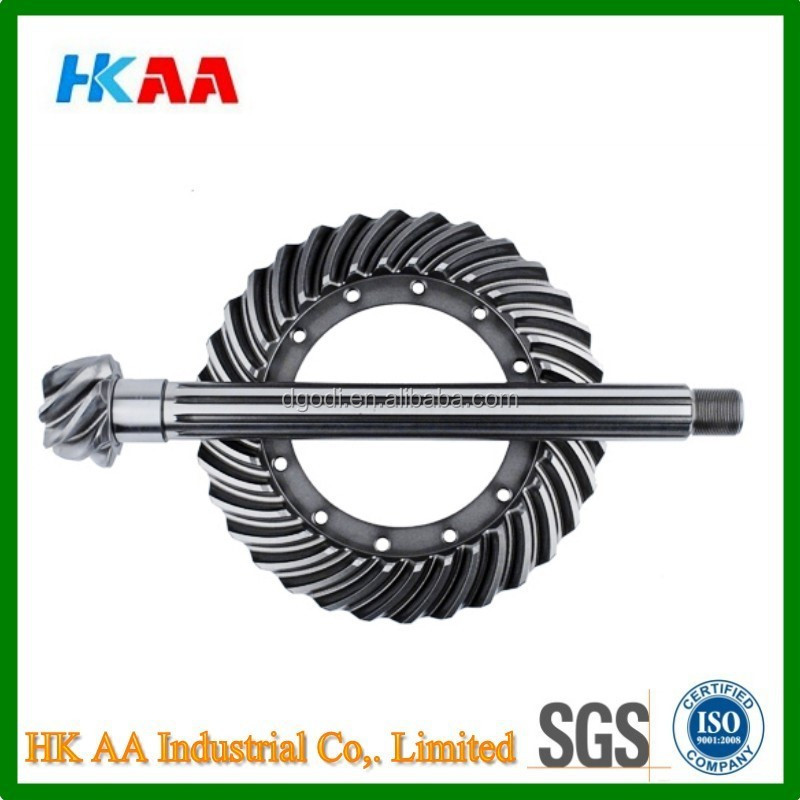 Custom high precision stainless steel heavy duty ring and pinion gears, auto ring and pinion gears