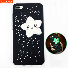 Universal Silicone Phone Case 3D Cartoon Cute Frame Bumper Light up Phone Case for iphone 6s