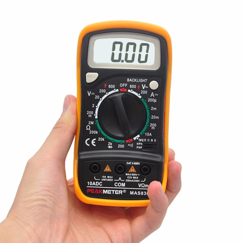 Model MAS830L Tester Top Sale 3 1/2 Manual Range Multimeter Specifications