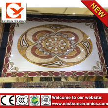 60x60cm/6pcs removable printed polished crystal carpet tiles