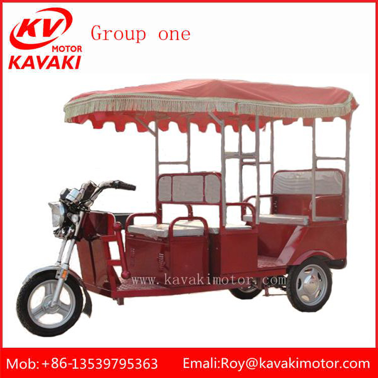 48V 650W Three Wheel Passenger Electric Rickshaw For Sale