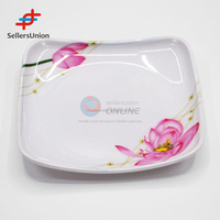 Trading agent commission agnet wanted in china High quality square environmental melamine floral plate