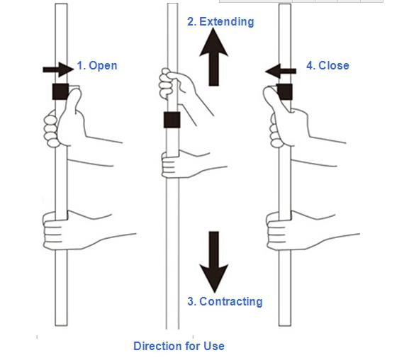 3 Sections Flip Telescopic Pole Locking Mechanisms