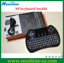High Quality 2.4G Mini h9 Wireless Keyboard With Touchpad Handheld for Laptop PC Google Andriod TV Box