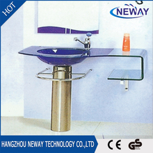 Cheap floor standing glass hand wash basin