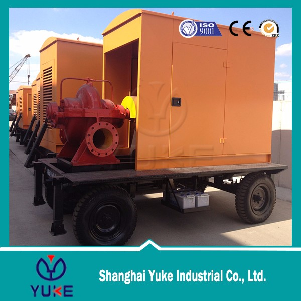 automatic 8 inch diesel engine high capacity low pressure pumping unit for pump station