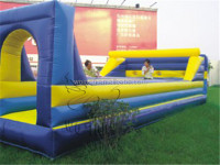 China pop attractive inflatable bungee run / funny sports game for adult