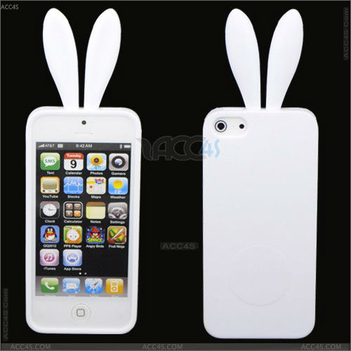 Rabbit tpu mobile phone melt ice cream case for iphone 5 P-IPH5TPU044