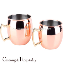 Manufacturer Customized 100% copper Plating Solid 16 OZ Copper Moscow Mule Copper Mugs Set Of 4