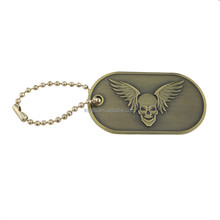 Hotsale personalized made military dog tag army tag with skull logo