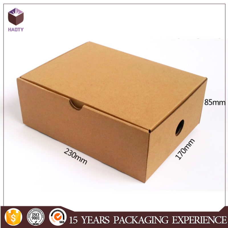 With handle custom logo shoe packing box