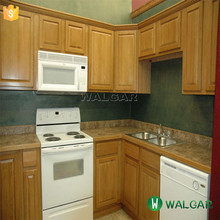 Modular kitchen cabinet with precut cream granite countertops,cream granite countertop with antique wood cabinet