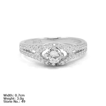 [RZ3-0014] 925 Sterling Silver Jewelry Ring with CZ Stones Trendy Ring