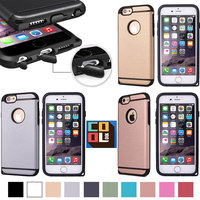 Golden Matte Back Cover 2 in 1 TPU Armor TU+PC Neo Hybrid Phone Cases Shockproof Hard Shell for Iphone6 6plus