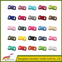 Colorful Plastic Mini Plastic Release 10mm Curved Buckle