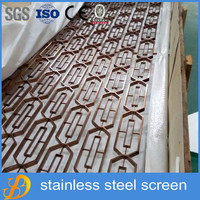 high quality stainless steel decorative screen panel room divider for hotel lobby