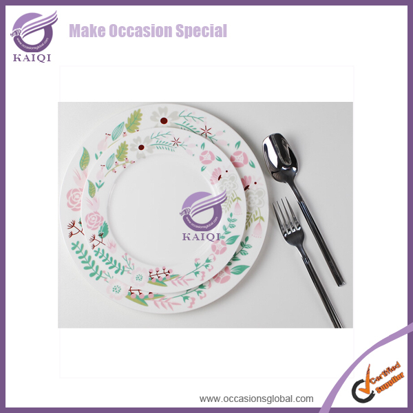 Wedding Ceramic Custom Dinner Plate Dinnerware White Sets