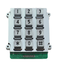 rugged vandal proof 3x4 metal kiosk payphone keypad