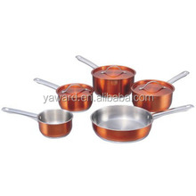 8Pcs Stainless Steel Cooking Pots And Pans Set With Induction Bottom