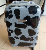 Wholesale luggage plastic OEM/ODM customized fashional travel luggage bags