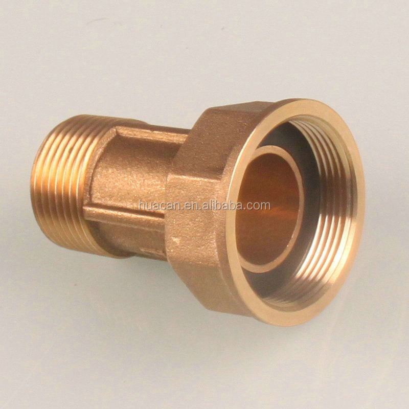 Made in china brass gas pipe fittings meter connector