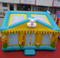 light green inflatable bounce castle/inflatable jumping castle