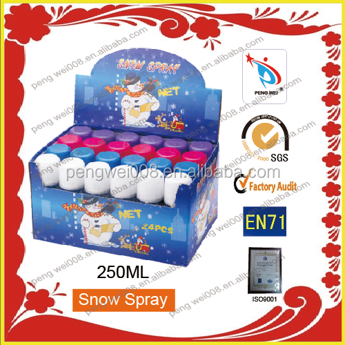250ml colorful snow spray for festival decoration