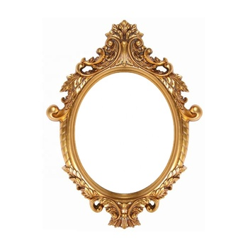 Home Decoration Classical Wooden Oval Picture Mirror Frames Christmas Gift