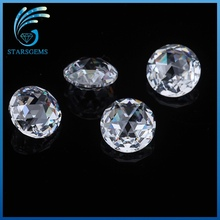 wuzhou factory brilliant cut round rose cut cubic zirconia