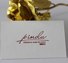 Import cotton paper letterpress printing business cards