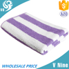 High quality microfiber reactive printed single color stripe beach towel