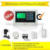 gsm wireless addressable home burglar library electronic security systems(YL007M2BX)