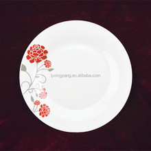 porcelain food divider plate,round compartment dinner plates,dinner plates